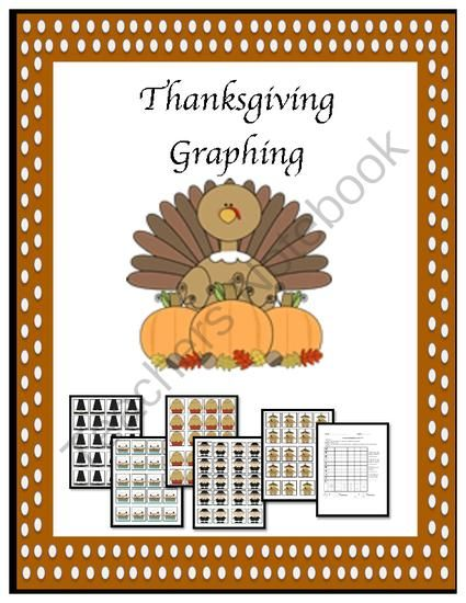 Thanksgiving Graphing for math centers! Enter for your chance to win 1 of 2.  Thanksgiving Graphing Game (9 pages) from Fun and Fancy Free in First Grade on TeachersNotebook.com (Ends on on 11-1-2014)  This Thanksgiving themed centers activity is a great way for students to practice graphing. Includes a printable recording sheet.