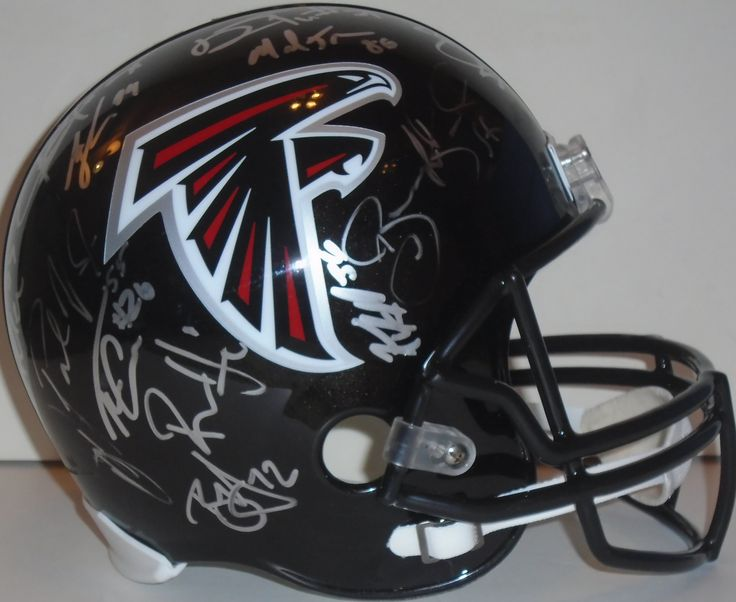 SOLD OUT! 2015 Atlanta Falcons team signed Riddell full size football helmet w/ proof photo! Proof photo of the Falcons signing will be included with your purchase along with a COA issued from Southwestconnection-Memorabilia, guaranteeing the item to pass authentication services from PSA/DNA or JSA. Free USPS shipping. www.Autographedwi... is your one stop for autographed collectibles from Atlanta sports teams. Check back with us often, as we are always obtaining new items.