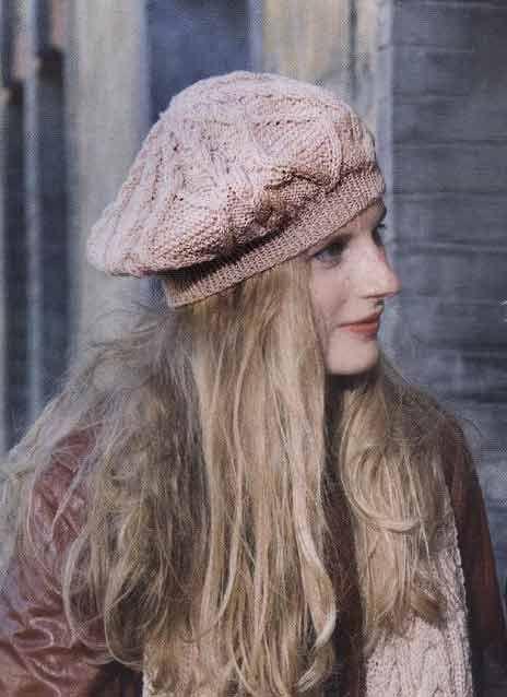 Вязание шапок и беретов спицами