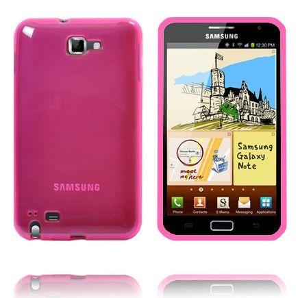 Läpikuultava TPU Muovinen (Pinkki) Samsung Galaxy Note Suojakuori