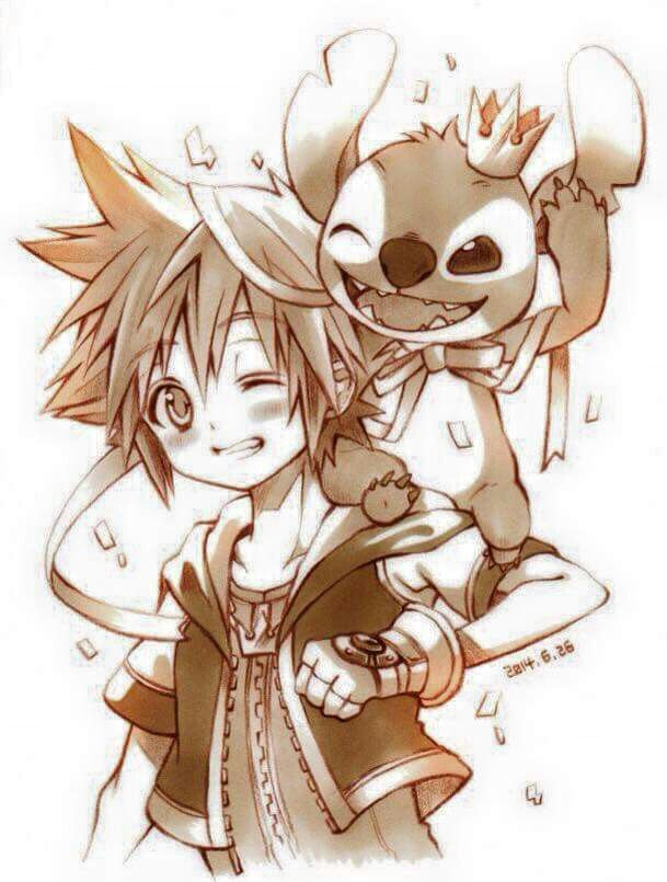 Kingdom Hearts Sora and Stitch!