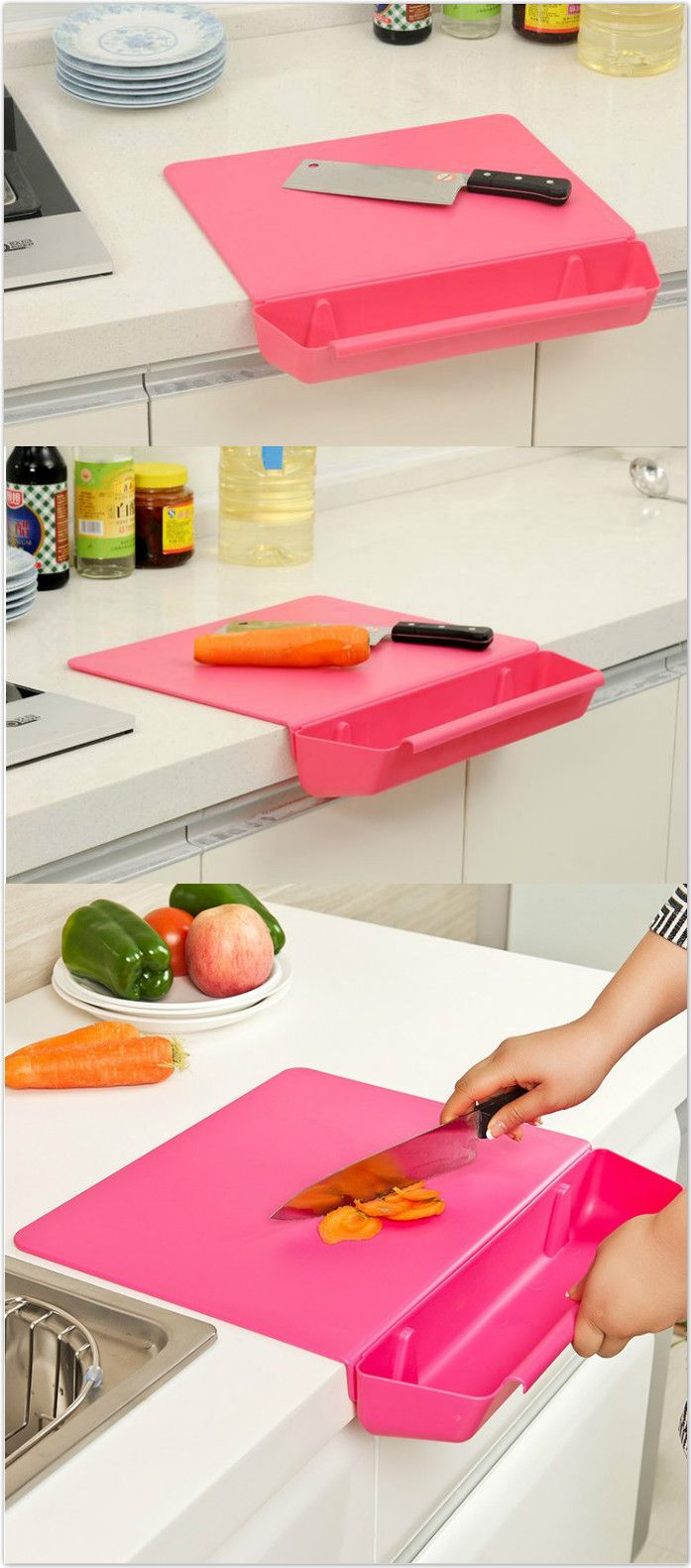 2-in-1 Creative Cutting Board with Detachable Storage Box. #kitchen_gadgets Home & Kitchen - Kitchen & Dining - kitchen decor - http://amzn.to/2leulul