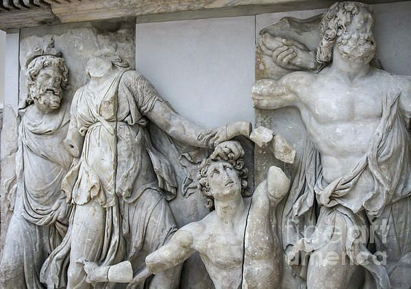 Detail Pergamon Altar In Marble By Patricia Hofmeester Pergamon Museum Pergamon Art