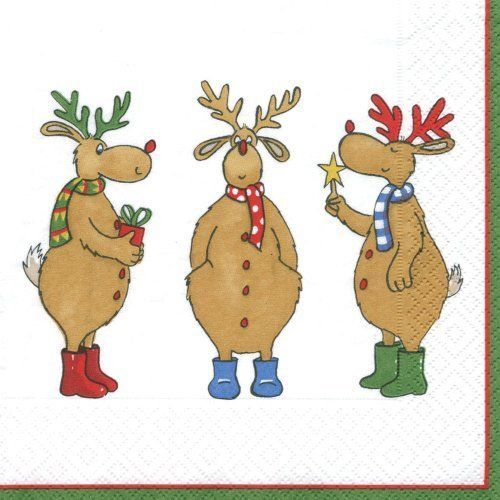 20 best Christmas & Winter Napkins images on Pinterest | Paper ...