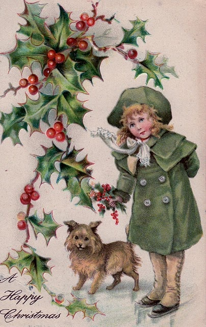 Holidays, Mary Christmas, Cards, Text & Clip Art...Vintage Holiday Postcards