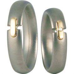 Billedresultat for forlovelsesring sølv med diamant i midten bartoli titan