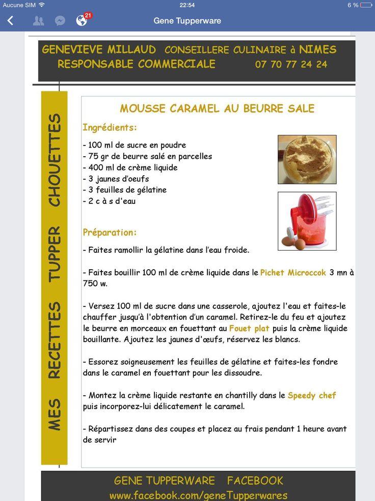 Tupperware - Mousse caramel au beurre salé