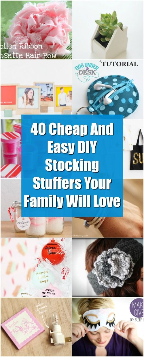 40 Cheap And Easy DIY Stocking Stuffers Your Family Will Love via @vanessacrafting