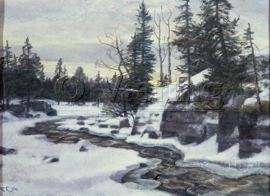 Frederik Collett (1839-1914): Bergknaus i Mesnaleven, 1906