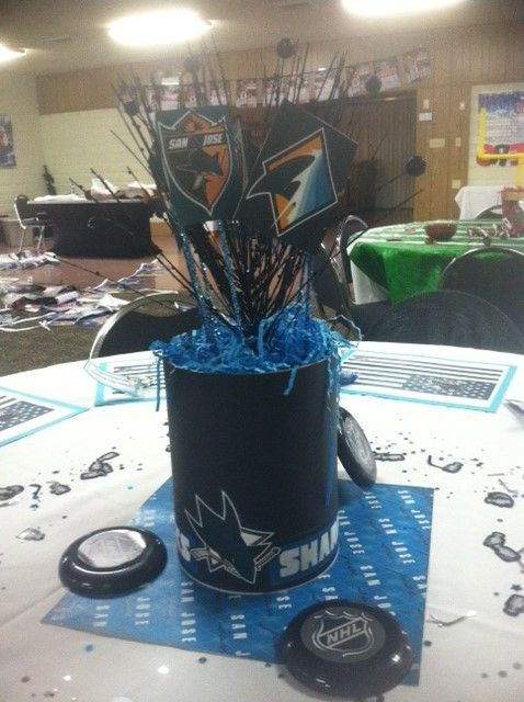 8 best Sports Theme Bday Party images on Pinterest San jose sharks