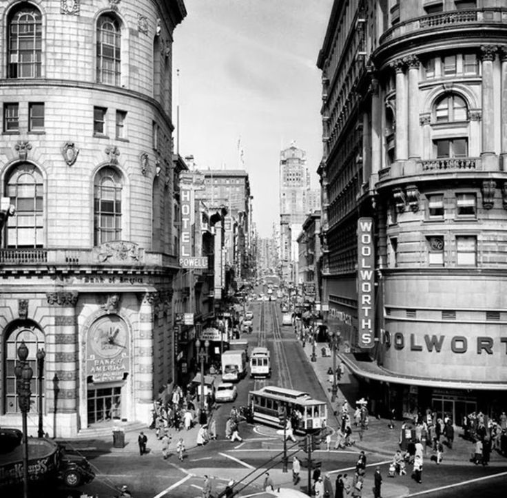 Market & Powell, 1952 - Amazing Midcentury Photographs of San Francisco Best of Web Shrine