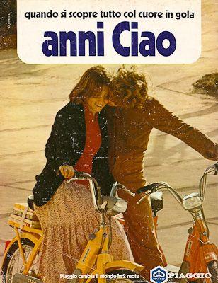 Pubblicità anni 70 Piaggio Vespa Ciao