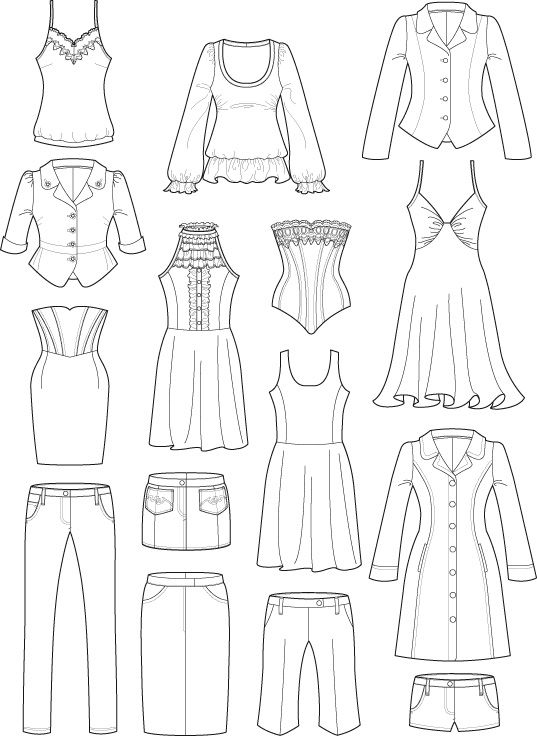 how to draw flats for fashion | technical drawings | courtneytrowbridge