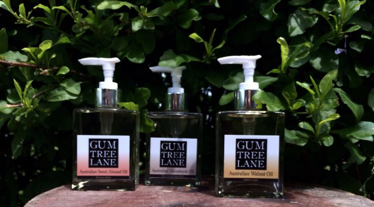 Gum Tree Lane Carrier Oils | Walnut Oil Macadamia Oil and Sweet Almond Oil