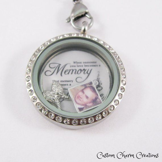 """New """"When someone you love becomes a memory, that memory becomes a treasure"""" Floating Charm & Plate for 30 mm Lockets @shosterman @beck75pa @crissschickley"""