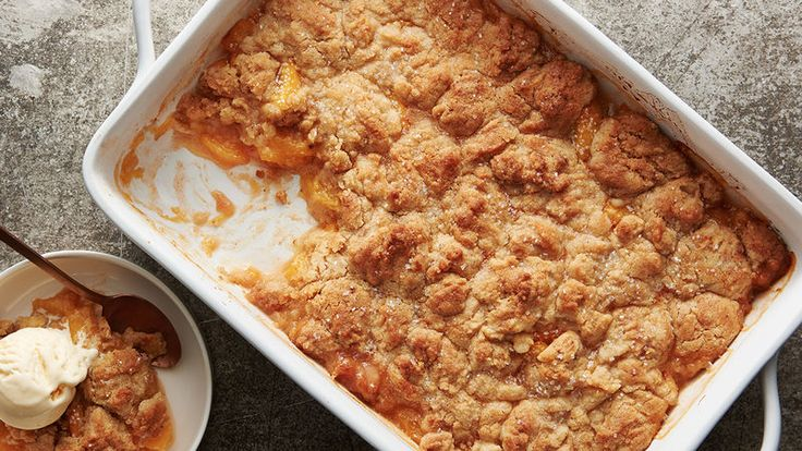 It's a bold claim, but hear us out: We bet we can beat your grandma's classic peach cobbler. Our version adds extra depth of flavor with the help of browned butter (instant win) and if that's not enough to convince you, it's also got a sugar cookie crust. We repeat: sugar cookie crust.