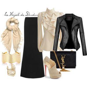 hijab ijeb voile outfit inspiration tenue look fashion muslima