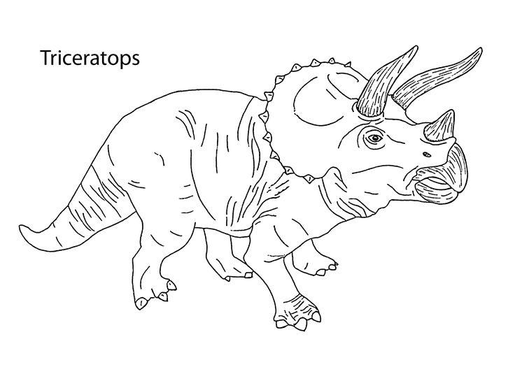 triceratops dinosaur coloring pages for kids printable free color boy stuff pinterest. Black Bedroom Furniture Sets. Home Design Ideas