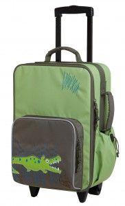 Lässig Kinder Trolley Reisetasche Koffer 4Kids Crocodile granny grün