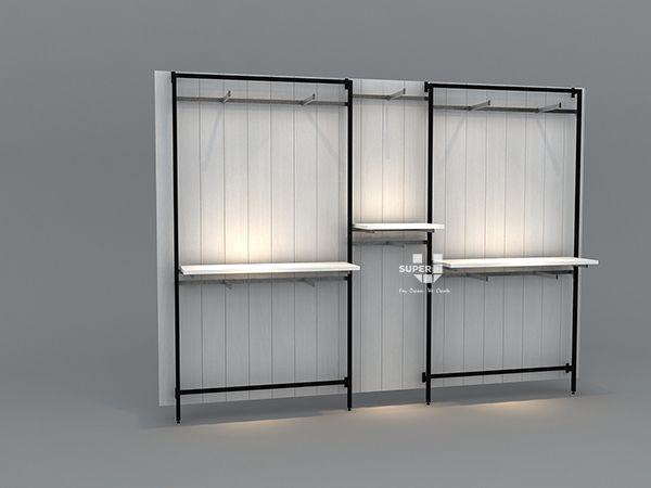 Custom Wall Mounted Display Rack For Retail Menswear Store For Retail Shop Store Display Design Manufacturer Suppliers Inspirasi