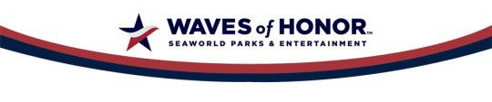 Waves of Honor - Anheuser Busch Here's to the Heroes  Exciting News from SeaWorld Parks!   They now have an offer for Retired MIlitary ad Veterans> Both these categories had been excluded from their highly popular Waves of Honor (formerly the Anheuser-Busch Heres to the Heroes). military salute.  These are half off tickets!