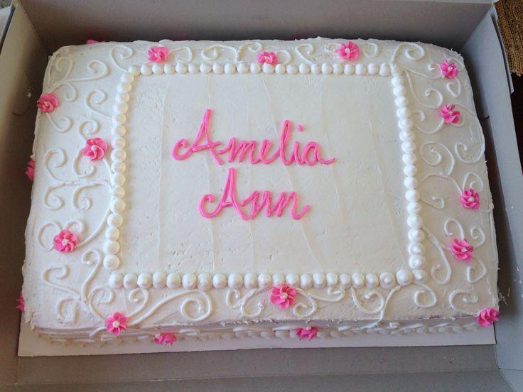 Baptism sheet cake 2014 Cakes Pinterest Baptism ...