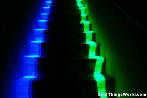 Colocar na escada da trelelê (ou isso ou luzinhas, aquelas que piscam (misturado com o pano)