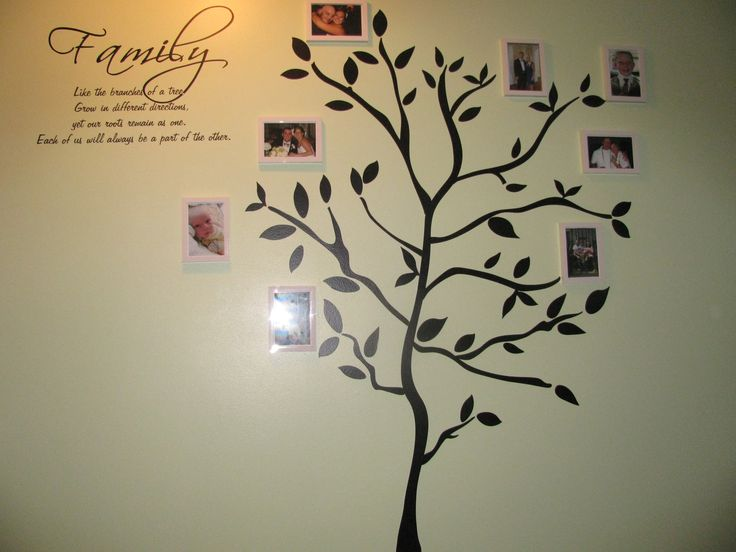 family tree wall mural for the home pinterest. Black Bedroom Furniture Sets. Home Design Ideas