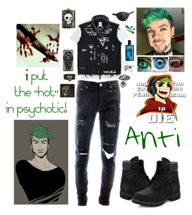 """Psychotic"" by spirit-ninja on Polyvore featuring Hot Topic, Diesel, Manokhi, Alexander McQueen, Timberland, Brianna Lamar, Davidoff, Masquerade, KAOS and men's fashion"
