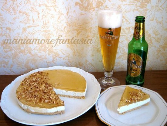 Cheesecake salata con gelatina di birra (senza cottura)