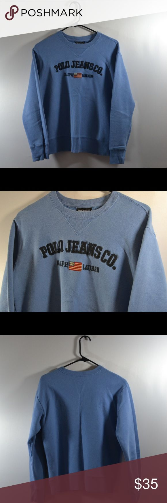 "VTG Polo Ralph Lauren Sweatshirt Size Small VTG Baby Blue Polo Ralph Lauren Sweatshirt Size Small 80%Cotton,20%Polyester Made In Indonesia. Chest:19"",Length:23"",Sleeve:21"" Polo by Ralph Lauren Tops Sweatshirts & Hoodies"