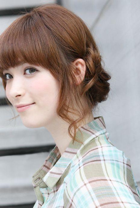 後れ毛にも気を使っちゃお☆女性の編み込みヘア参考一覧♡