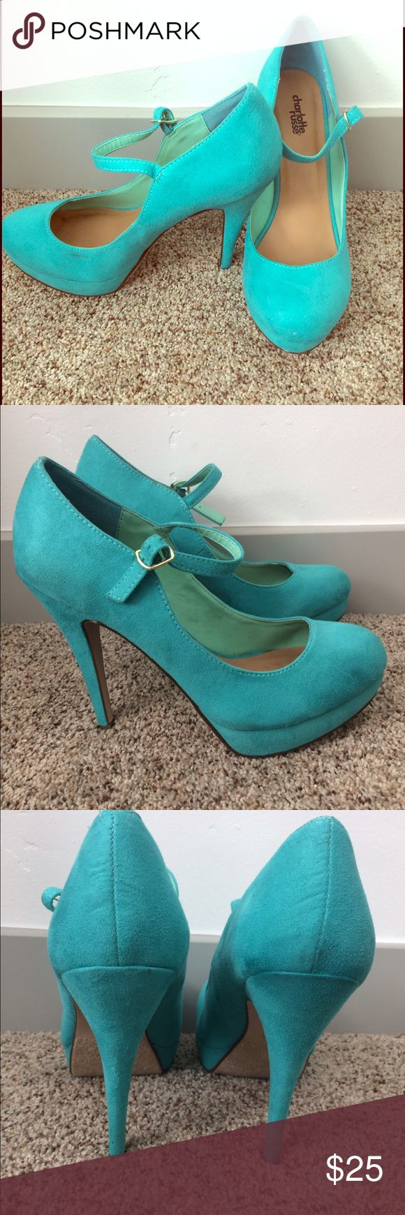 Charlotte russe pumps Gorgeous mint pumps!  This are in excellent condition, only ever wore once. They still have the size tag on the bottom. Charlotte Russe Shoes Heels