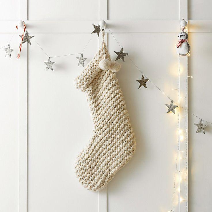 Chunky Knit Stocking   The White Company #whitechristmaswishlist