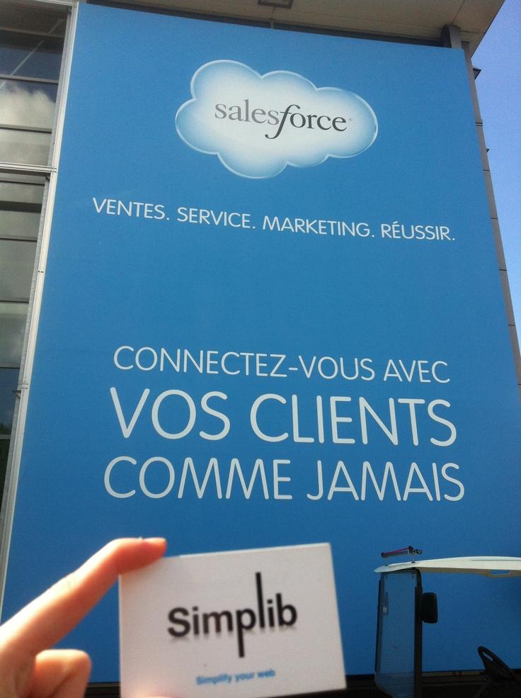 Simplib at the salesforce day in Paris www.simplib.com