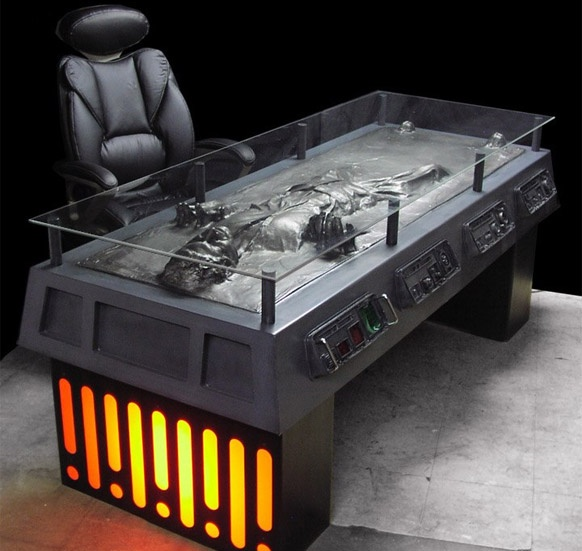 Han!: Hansolo, Offices Desks, Only Carbonit, Solo Desks, Carbonit Desks, Stars War, Solo Frozen, Hans Solo, Home Offices