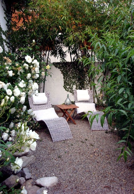 Definición De Cómodos Rincones Para Sentarse En El Jardín