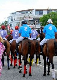 #Polo Parade down #Plett Main Street in December 2013. The first of it's kind in Africa! #plettitsafeeling #horses #plettenbergbay