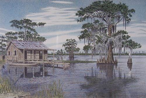Louisiana Swamp Paintings