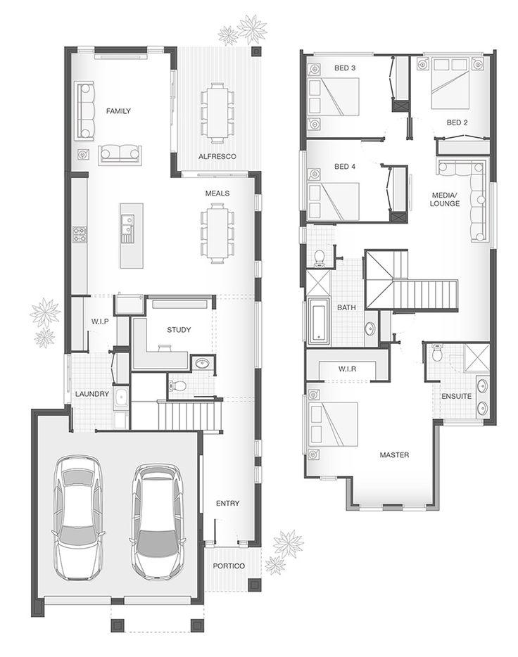 The CARLSON Double Storey Home Design Floor Plan | 258.5m2 | 4 Bedrooms, 2.5