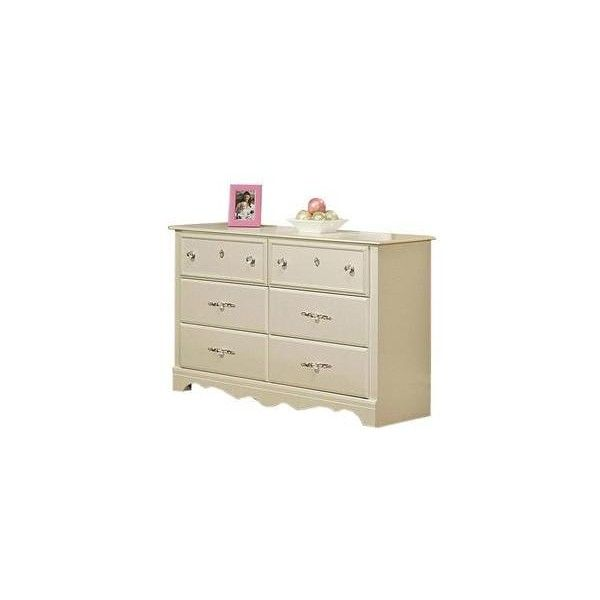 Enchanted Dresser in Pearl White | Nebraska Furniture Mart ($200) ❤ liked on Polyvore featuring home, furniture, storage & shelves and dressers