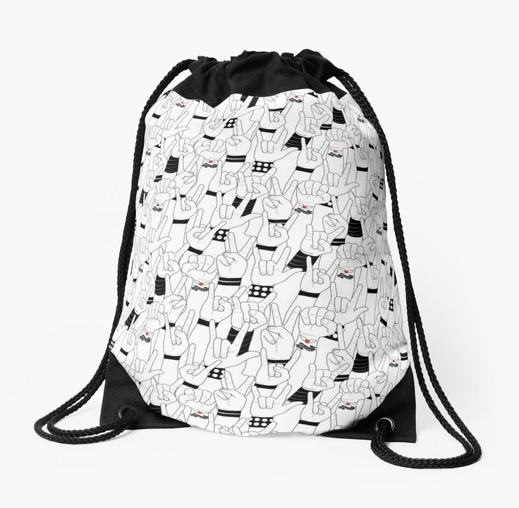 #music #love #rockandroll #rock #concert #crowd #mia #redbubble #drawstring #bag