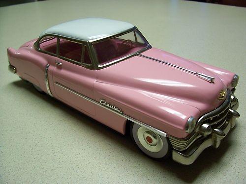1950's Cadillac Sedan Tin Friction Car Mint in Original Box Made in