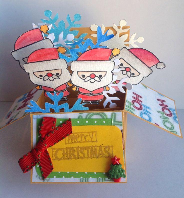 Tarejta navideña en caja