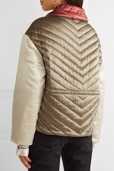 Isabel Marant - Hector Padded Silk-shell Jacket - Beige - FR