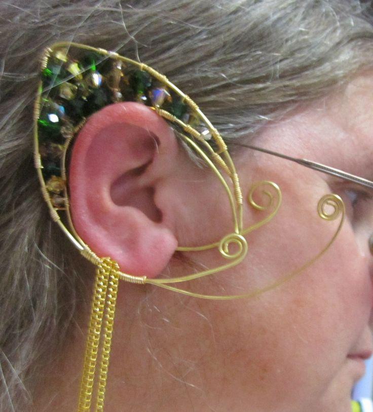 I finally learned how to make a wire form Elf or Hobbit ear.
