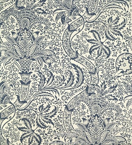 Indian wallpaper, by William Morris. England, late 19th century