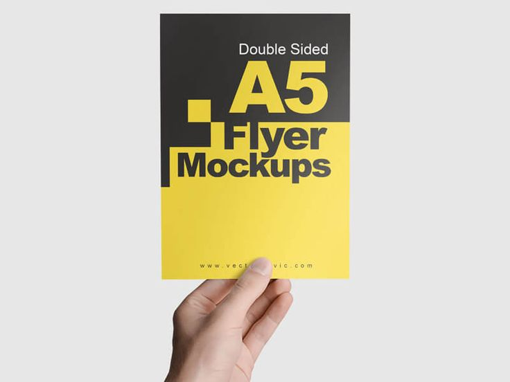 Double Sided A5 Flyer Mockups On Vectogravic Design Flyer Mockup Flyer Mockup Psd Flyer