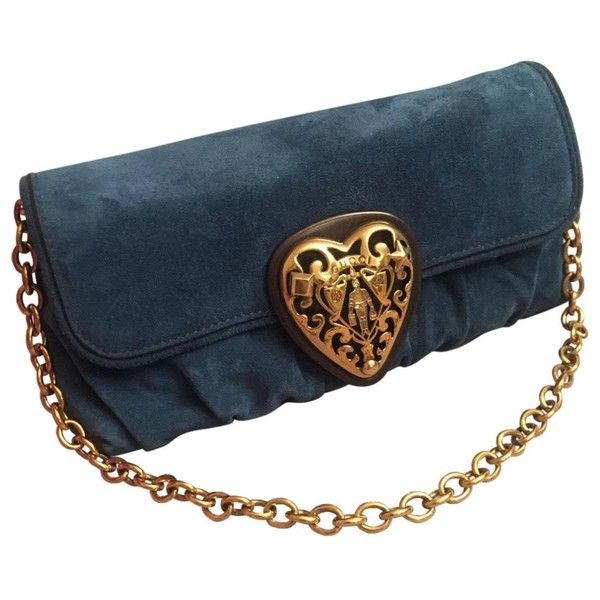 Pre-owned Gucci Navy Suede Clutch Bag ($387) ❤ liked on Polyvore featuring bags, handbags, clutches, navy, women bags clutch bags, blue suede handbag, blue clutches, suede purse, gucci clutches and navy purse
