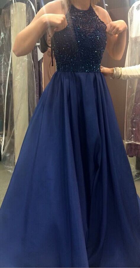 Royal Blue Prom Dress,Ball Gown Pro